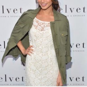 Velvet by Lily Aldridge lace white dress small